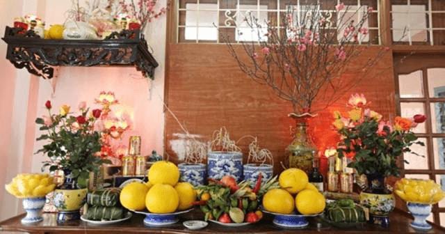 Cách bày hoa quả bàn thờ gia tiên đẹp mắt trang nghiêm