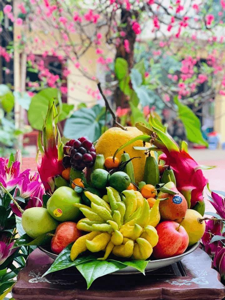 Cách bày hoa quả bàn thờ đẹp mắt, trang nghiêm