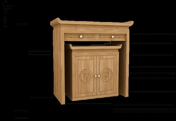 Chất liệu tủ thờ thường được sử dụng là gỗ phong thủy