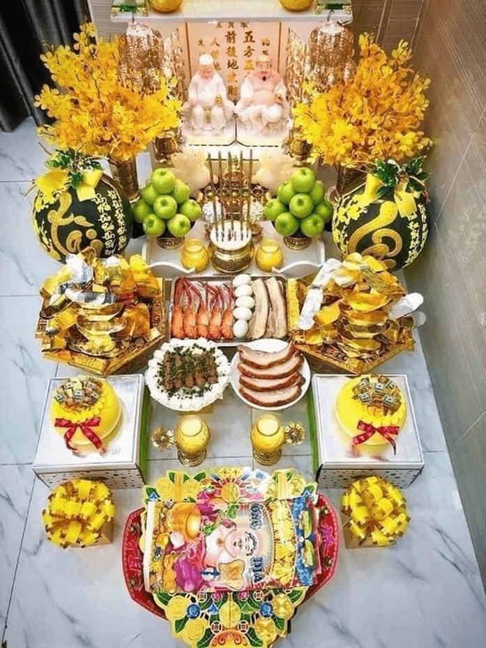 Lễ vật để giải bàn thờ Thần Tài – Ông Địa