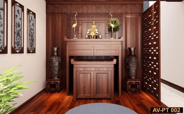 Mẫu tủ thờ đơn giản được thiết kế mang đậm phong cách hiện đại