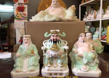 Tượng thờ 3 ông thần tài: Thần tài - Thần tiền - Thổ Địa