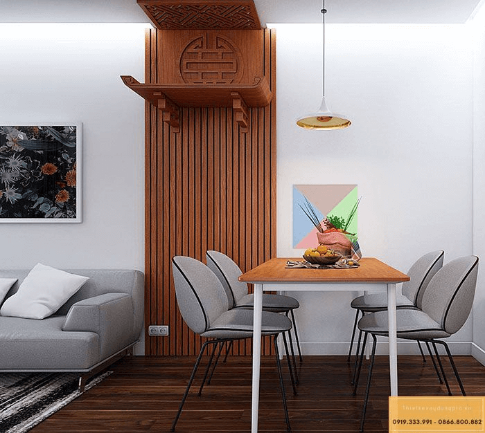 Mẫu bàn thờ treo tường đẹp 2020