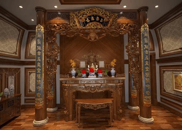 Án gian thờ gỗ mít