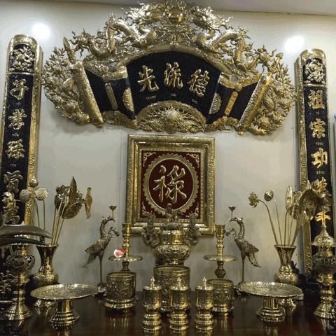 Hoành phi câu đối bàn thờ gia tiên giúp gia chủ thu hút tài lộc, phú quý