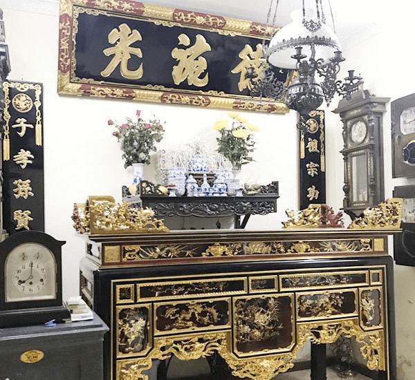 Mẫu bàn thờ sơn son thếp vàng đẹp 2021