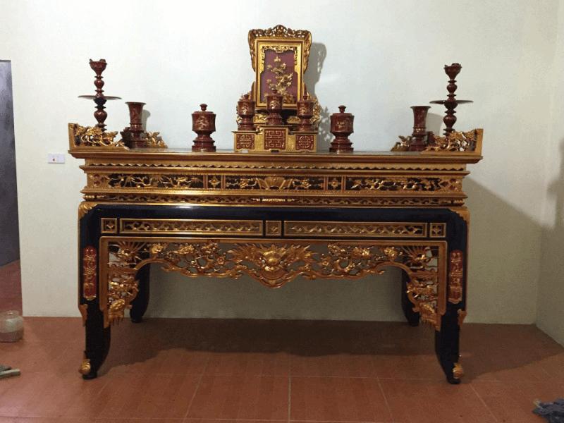 Mẫu bàn thờ sơn son thếp vàng được ưa chuộng nhất